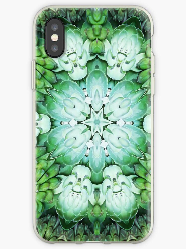 Green Succulent Mandala by julieerindesign