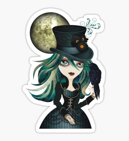 Raven's Moon Sticker