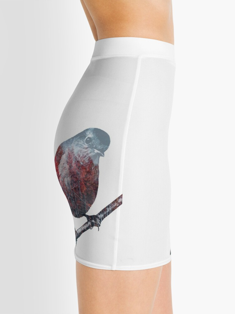Alternate view of Forest Robin on a Branch  Mini Skirt