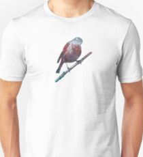 Forest Robin on a Branch  Slim Fit T-Shirt