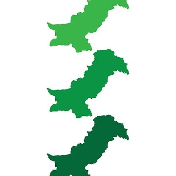 Pakistan Map - Green Shade by kamrankhan