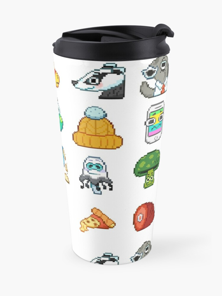 Alternate view of Doodle Date Pixel Party  Travel Mug