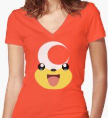 Pokemon - Teddiursa / Himeguma Women's Fitted V-Neck T-Shirt