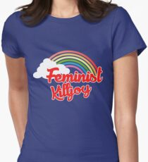 Feminist killjoy retro rainbow Women's Fitted T-Shirt