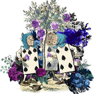 Alice's Adventures in Wonderland Card Soldier Pattern by 4Craig