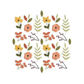 Cheerful Floral Pattern by ohjessmarie