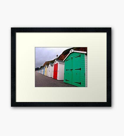 Beach Huts - Seaton Framed Print