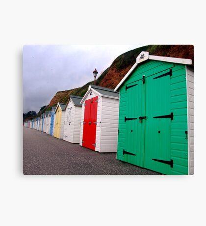 Beach Huts - Seaton Canvas Print