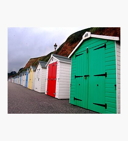 Beach Huts - Seaton Photographic Print