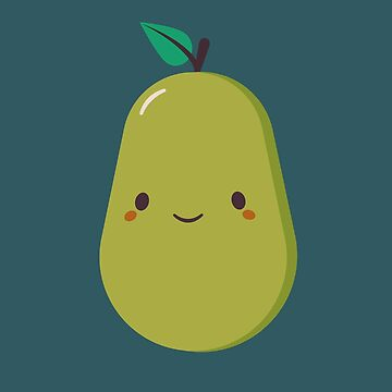 Green Pear Is Cute and Kawaii by happinessinatee