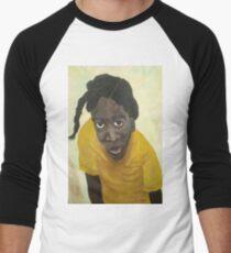 Jamaican school girl Men's Baseball ¾ T-Shirt
