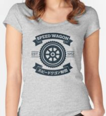 SPW - Speed Wagon Foundation [Navy] Women's Fitted Scoop T-Shirt