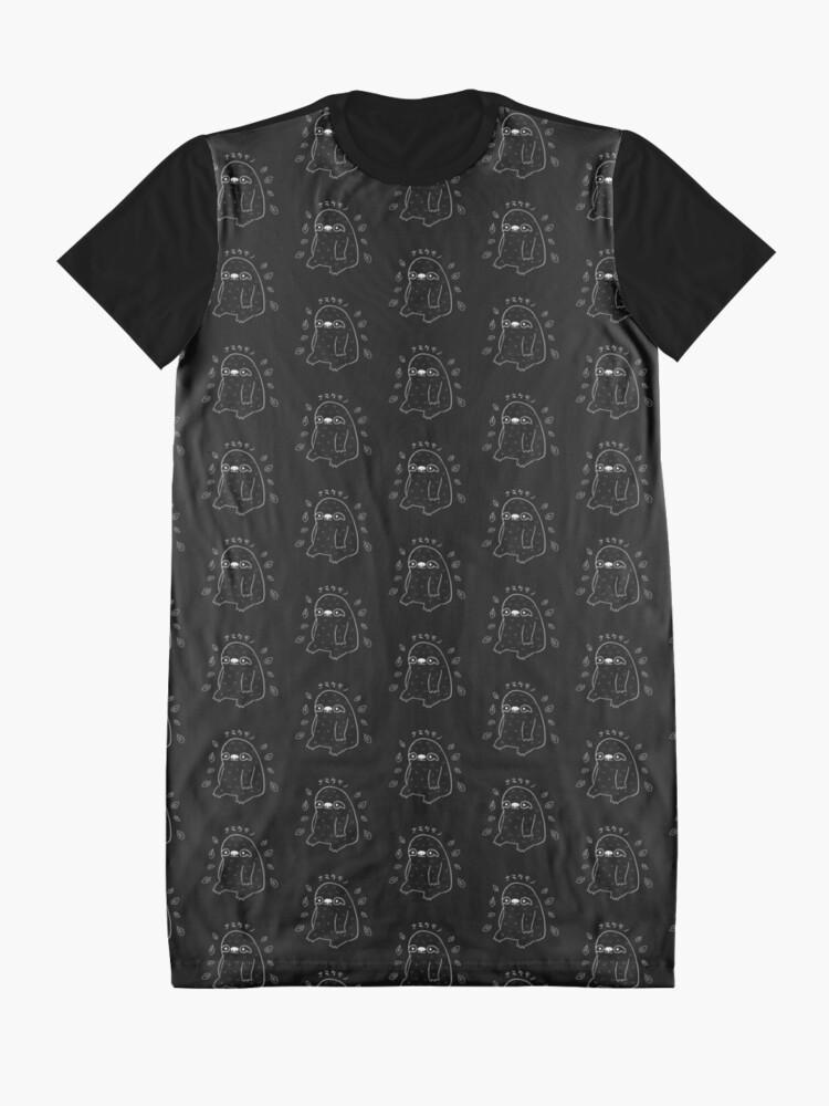 Alternate view of Monochrome Sloth - Simple Art v2.0 Graphic T-Shirt Dress