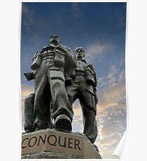 Spean Bridge commando monument, Scotland Poster