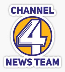 Anchorman - Channel 4 News Team Sticker