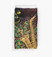 Boo Cat Mardi Gras Duvet Cover