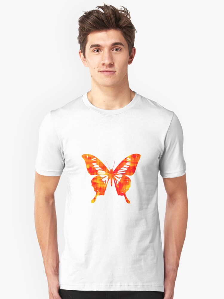 Red & Gold Butterfly Unisex T-Shirt Front