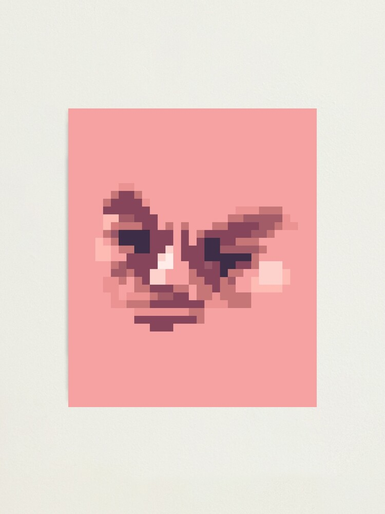 Alternate view of WTF Poring - Pixel face Photographic Print