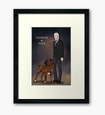 Charon and Nike Framed Print