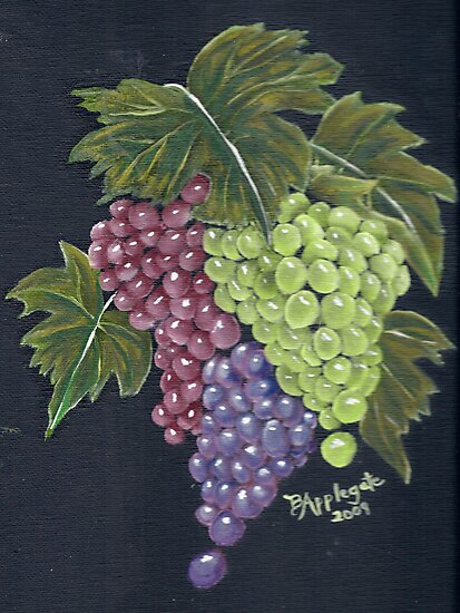 Oregon Grapes ~ Still Life - Oil Painting by Barbara Applegate