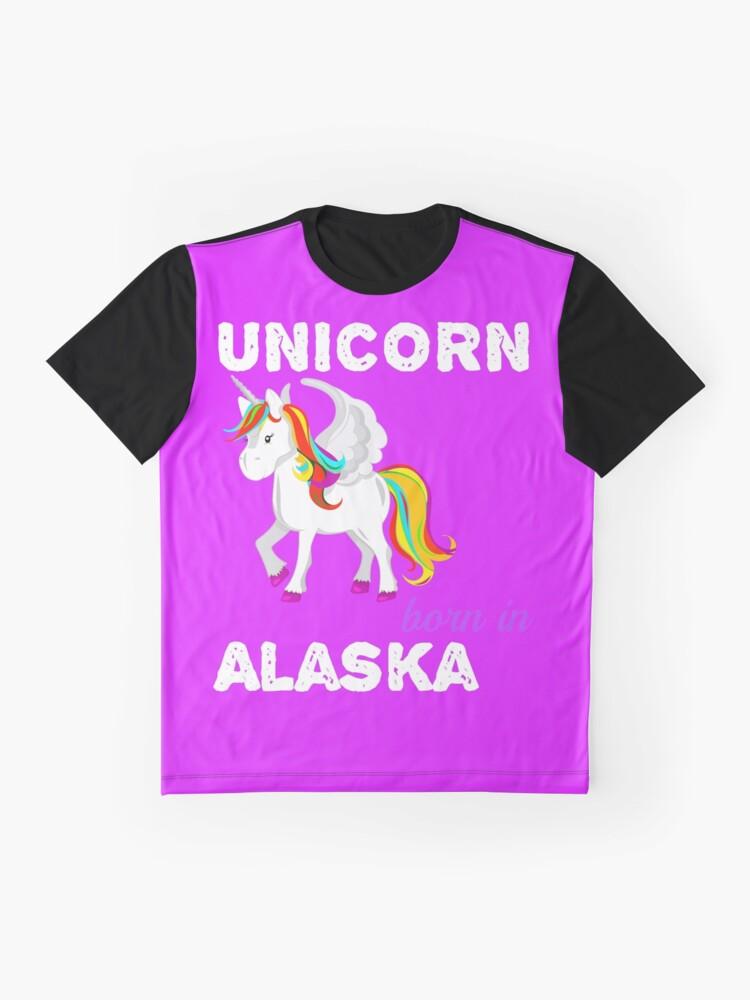 Alternative Ansicht von Einhorn in Alaska geboren Grafik T-Shirt