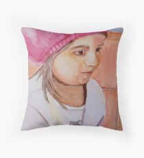 Sushi Bar, watercolor on yupo paper Throw Pillow