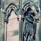 Soldier guarding door Lichfield Cathedral England 19840926 0024  by Fred Mitchell