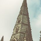 Main Tower of Lichfield Cathedral England 19840926 0025 by Fred Mitchell