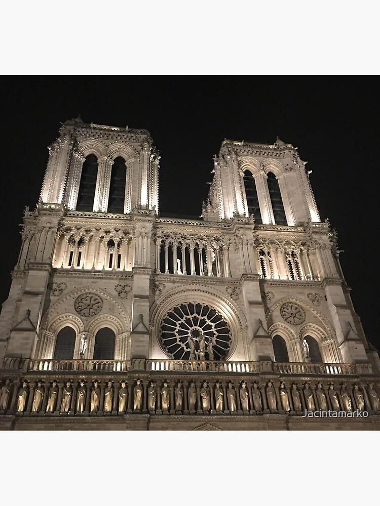 Cathédrale Notre-Dame de Paris at Night  by Jacintamarko