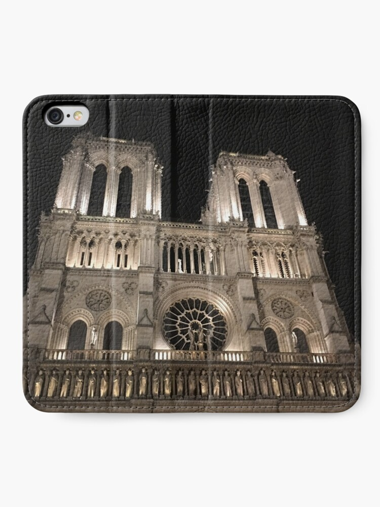 Alternate view of Cathédrale Notre-Dame de Paris at Night  iPhone Wallet
