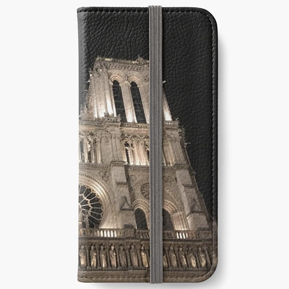 Cathédrale Notre-Dame de Paris at Night  iPhone Wallet