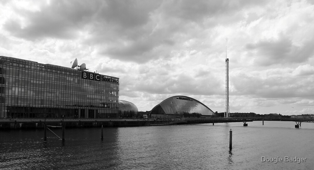 Glasgow Science Centre Black and White  by Dougie Badger