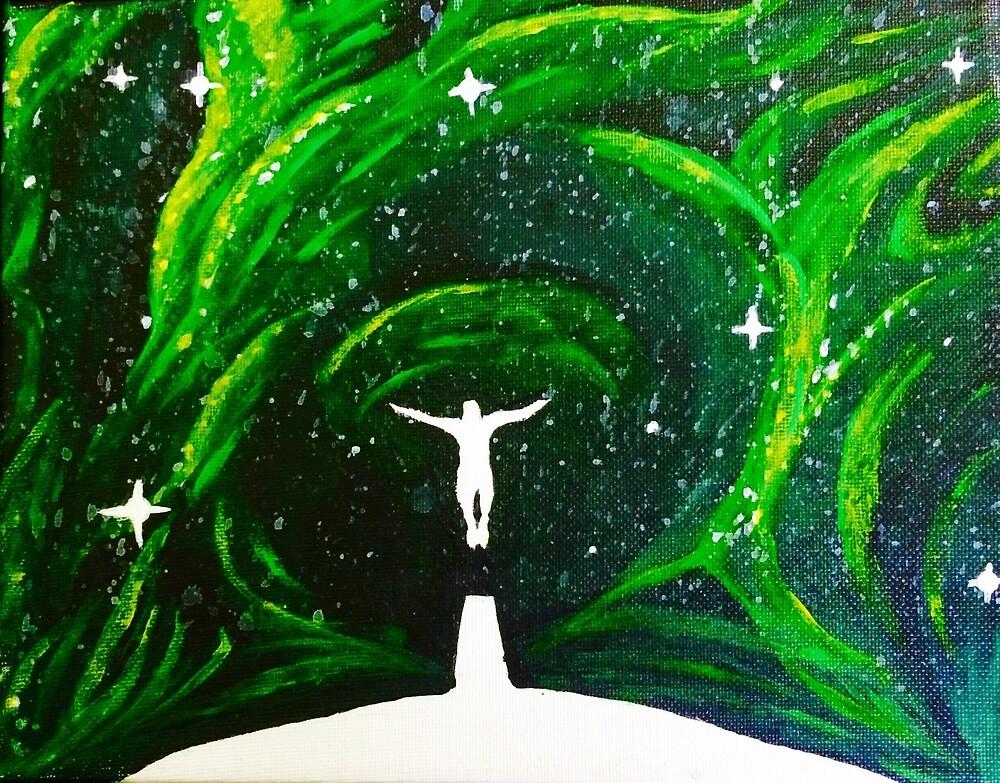 Green Galaxy Jump  by WillTurnbull