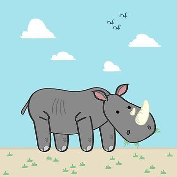 Un Rhinocéros by davesliozis