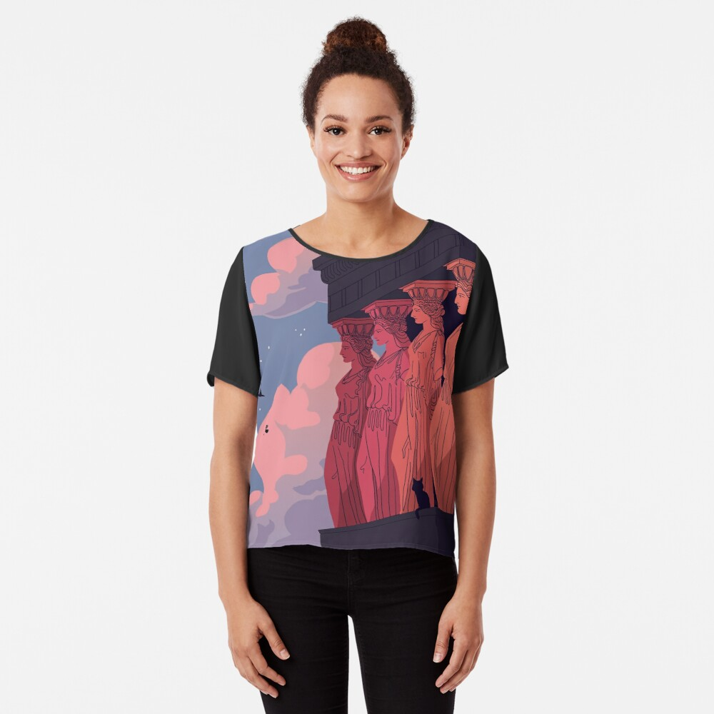 Caryatids at Dusk Chiffon Top