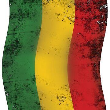 Rasta Reggae Flagge von Periartwork