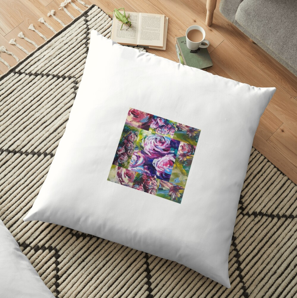The roses 2 Floor Pillow