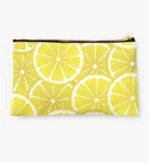 Lemon Slices Background Studio Pouch