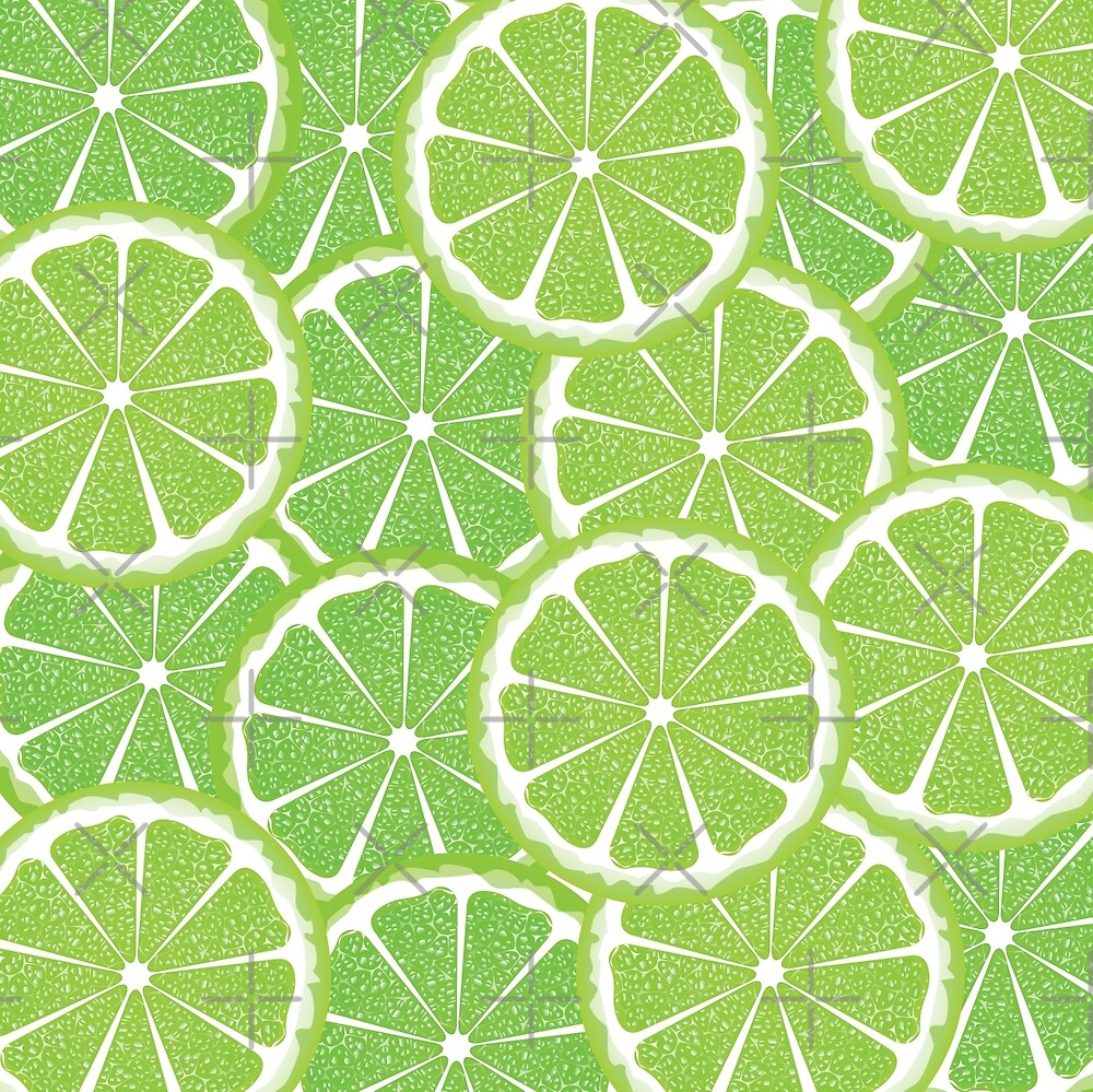 Lime Slices Background 2 by AnnArtshock