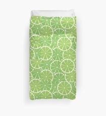 Lime Slices Background 2 Duvet Cover