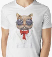 Astro Cat T-Shirt mit V-Ausschnitt für Männer
