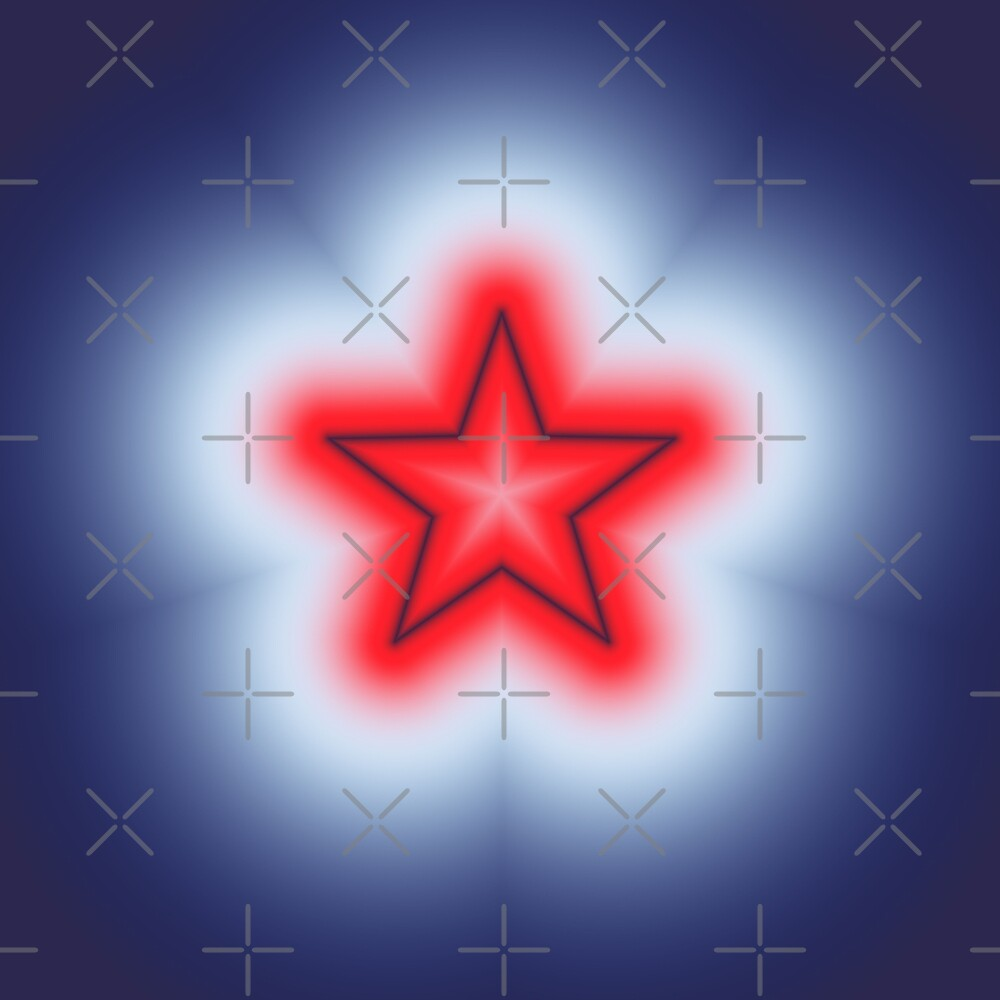 Red White and Blue Star by charmarose