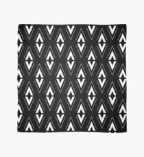 Scandinavian Aztec Pattern Black and White Scarf
