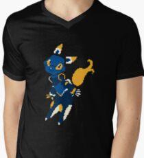 Pixel e621 T-Shirt mit V-Ausschnitt für Männer