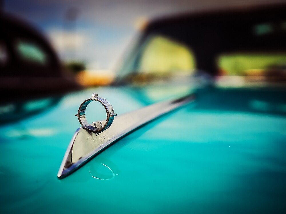 1964 Ford Galaxie 500 XL Hood Ornament by JonWoodhams