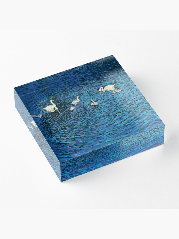 Alternate view of Swan Family Acrylic Block