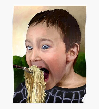 """Noodle Mayhem...or """"Don't Laugh When Your Mouth's Full!"""" Poster"""