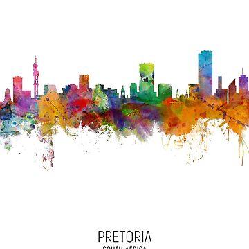 Pretoria Sudáfrica Skyline de ArtPrints
