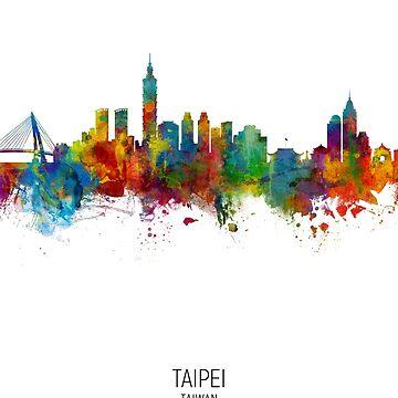 Taipei Taiwan Skyline de ArtPrints