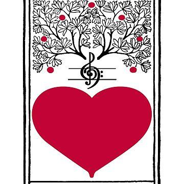 Harmonize The World Heart & Tree by Zehda